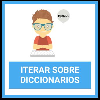 python español iterar sobre diccionarios